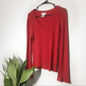 Pierre Cardin | Red Long Sleeve Size M